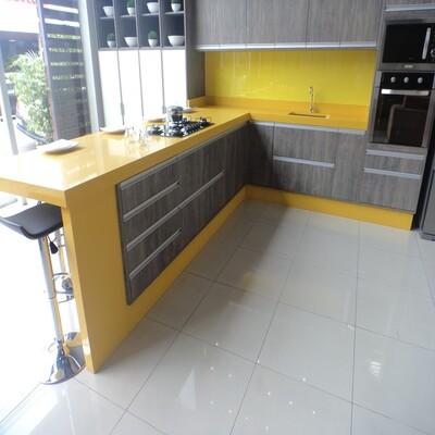 Pia Quartzo Amarelo Clean